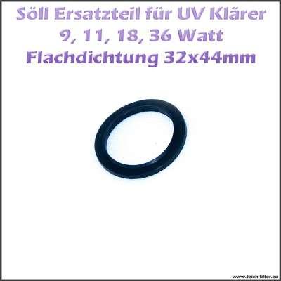 Ersatzteil 15251 Flachdichtung 32 x 44 mm für Gehäuse der UV Klärer von Söll