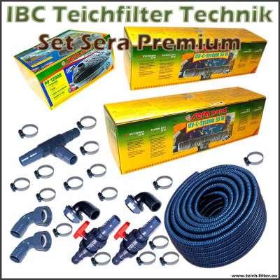 Premium Teichtechnik Set Sera für Teichfilter aus 3 IBC Containern