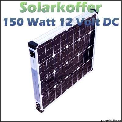 150W 12V Solarkoffer als faltbares Solarmodul für Garten und Wohnmobil sowie outdoor