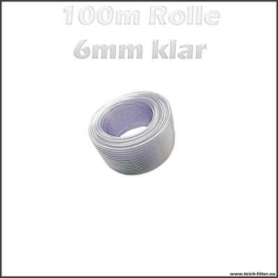 100m Rolle Schlauch klar transparent mit 6mm Innendurchmesser