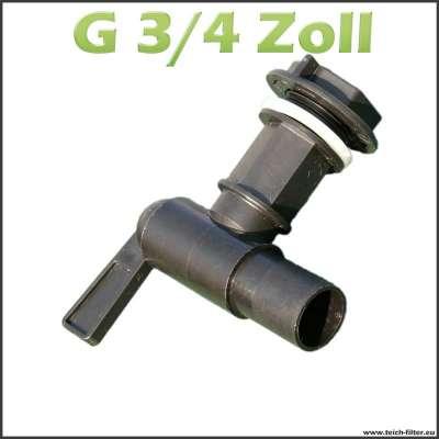 G 3/4 Zoll Hahn für Regenfass aus Kunststoff