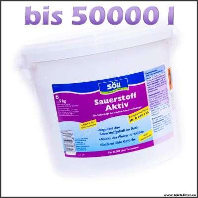 5 kg Söll Aktiv Sauerstoff für bis zu 50000 l Wasser im Gartenteich