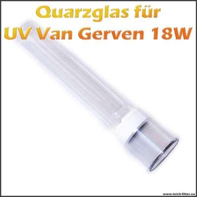 Quarzglaskolben für Van Gerven 18 Watt UV Wasserfilter als Ersatz