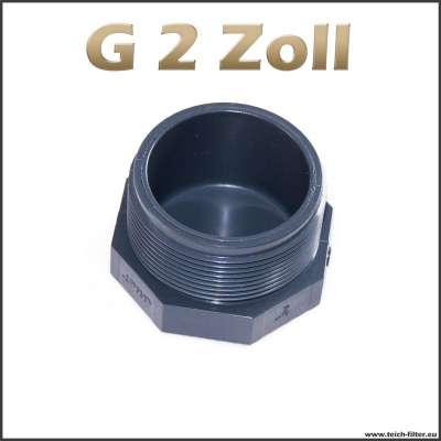 G 2 Zoll Verschlussstopfen aus Kunststoff mit Aussengewinde