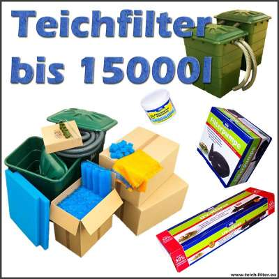 teichfilter 15000 liter s ll mit pumpe und uvc. Black Bedroom Furniture Sets. Home Design Ideas