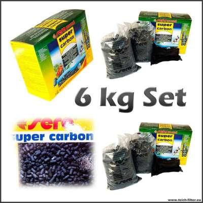 6 kg Sera Aktivkohle Pellets für Teiche bis zu 12000 l Wasser und Regentonnen