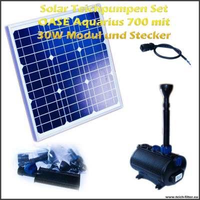 Solar Teichpumpen Set 12V 700 mit 30 Watt Modul