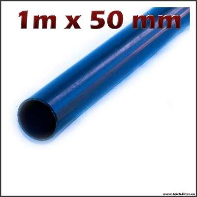 50mm Rohr mit 1m Länge aus Plastik für Teichfilter und Wasser