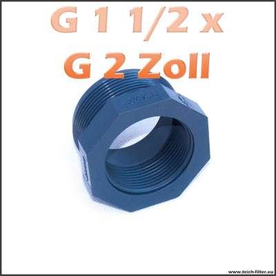 Gewindeadapter G 1 1/2 x 2 Zoll aus Kunststoff