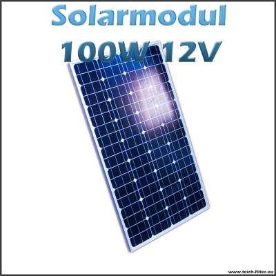 Solarmodul 100W 12V monokristallin für Garten, Dach und Camper