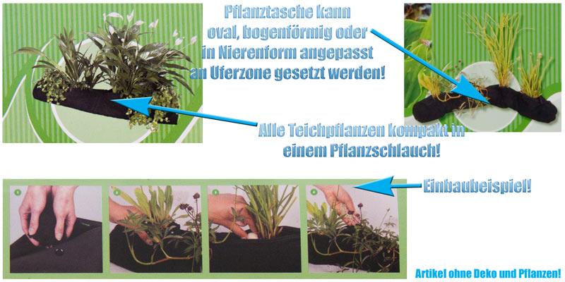 pflanztasche-laenglich-rechteckig-rund-schlauch-topf-korb-uferzone-teichpflanzen-textil-nierenform-oval-bogenfoermig-beutel