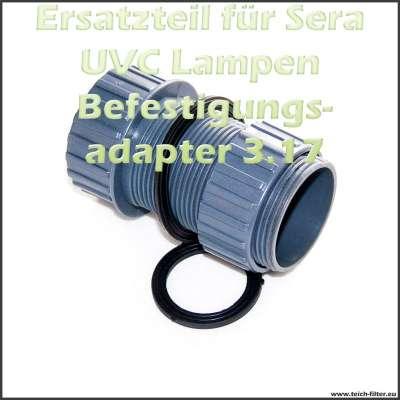 Befestigungsadapter Sera 3.17 (08227) für UVC System 55W und Teichfilter Koi Professional