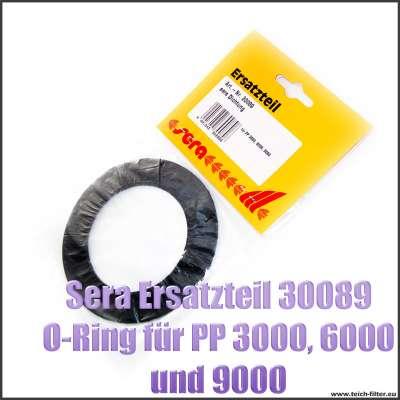 Sera Pond Ersatzteil 30089 schwarze Flachdichtung 98x65x2mm für Flügelrad bei PP Teichpumpen 3000, 6000 und 9000