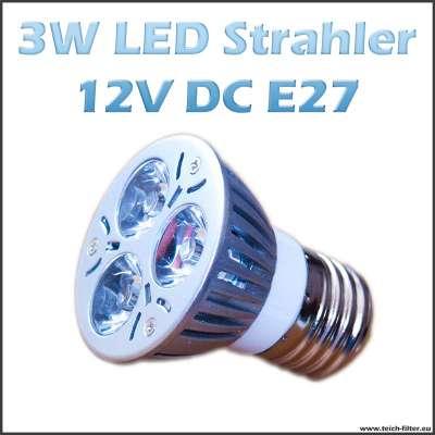 3W 12V LED Strahler (Spot) Warmweiss mit E27 Fassung für Solaranlagen günstig kaufen