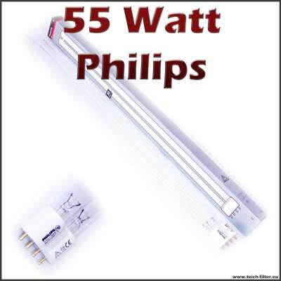 55 watt uv lampe pll philips. Black Bedroom Furniture Sets. Home Design Ideas