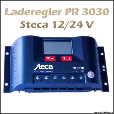 Laderegler 12V bis 24V PR 3030 für 30A von Steca einstellbar durch digital Display