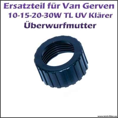 Schwarze Mutter für TL UVC Klärer von Van Gerven und Tauch UV-C von Aquaforte