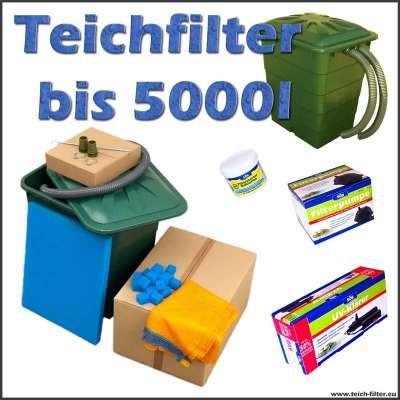 Teichfilter bis 5000 Liter mit Söll Pumpe, Bakterien und UVC
