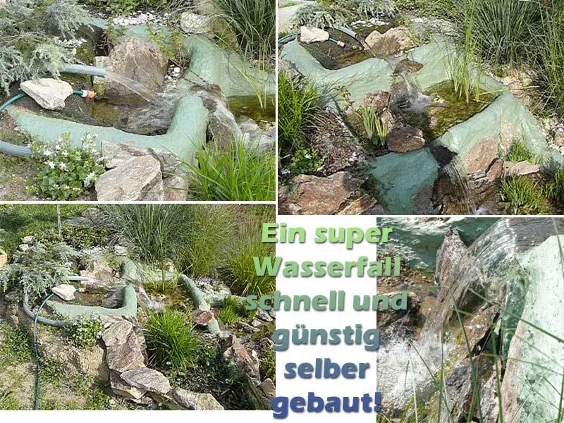 Wasserfall Fuer Teich Anlegen Und Bauen