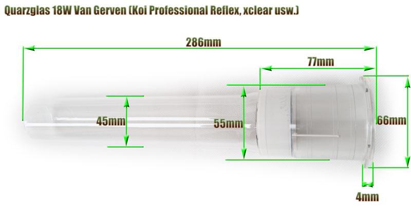 quarzglas-van-gerven-18w-uvc-klaerer-ersatz-abmessung-286mm-laenge-aquaforte-koi-professional-reflex-xclear