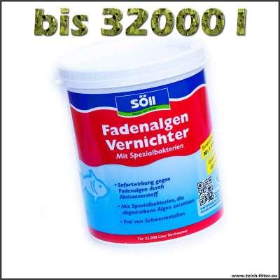 1 kg Fadenalgenvernichter für 32000 l Wasser