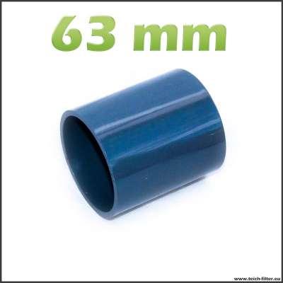 63 mm Muffe aus wasserfestem PVC für Rohre am Teich