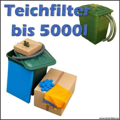 teichfilter 5000 liter ohne pumpe und uvc. Black Bedroom Furniture Sets. Home Design Ideas
