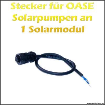 Stecker für 12V Oase Solar Teichpumpen an 1 Modul