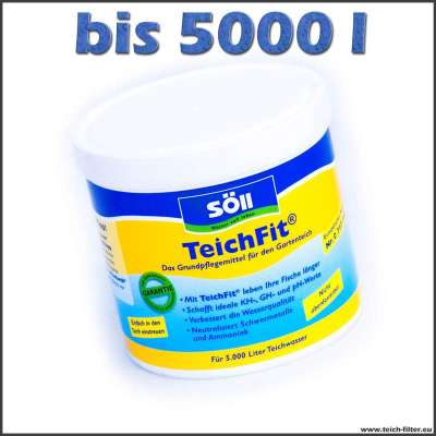 500 g Söll Teichfit zum Aufhärten von 5000 l Wasser