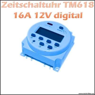 Digital programmierbare Zeitschaltuhr 12V 16A 618 für Aufputz Montage als Timer