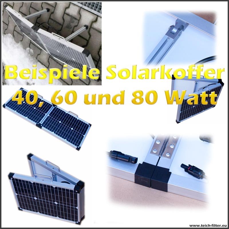 solarkoffer 80 watt 12 volt solarmodul faltbar f r. Black Bedroom Furniture Sets. Home Design Ideas