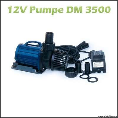 Teichpumpe 12V DM 3500 für Schwimmteich