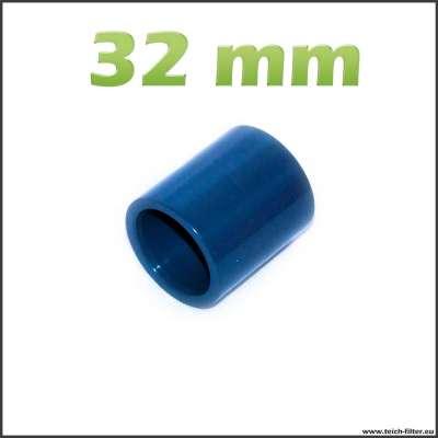32 mm Muffe aus PVC Plastik als Verbinder