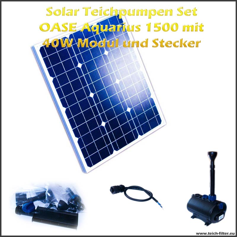 12v solar teichpumpen set 1500 mit 40w modul. Black Bedroom Furniture Sets. Home Design Ideas