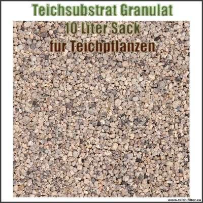 Substrat Granulat im 10 Liter Sack für Teichpflanzen im Gartenteich, Aquarium, Pflanzkorb und Pflanzinsel