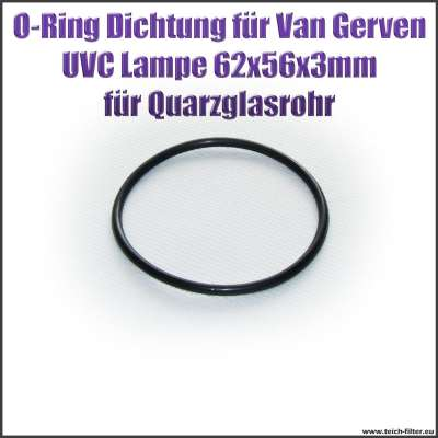 O-Ring Dichtung 62 x 56 x 3 mm für Quarzglas an Van Gerven UVC Lampen Koi Professional