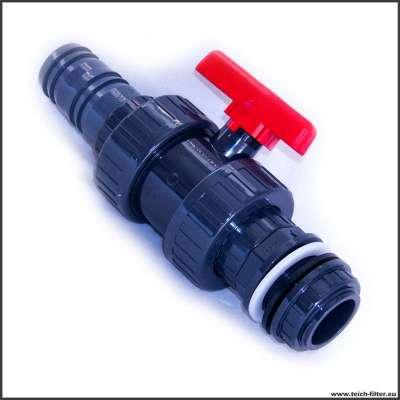 Auslaufhahn 50 mm mit G 1 3/4 Zoll Gewinde für IBC Teichfilter