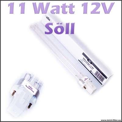 11 Watt 12 Volt UV Lampe Söll für Teichklärer