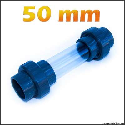 50 mm Schauglas mit Verschraubung aus PVC