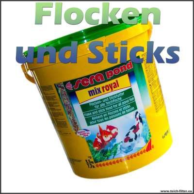 Fischfutter Mix Royal Flocken und Sticks