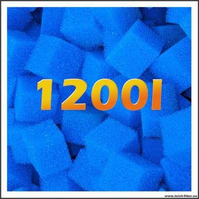 1200 Liter Filterschwämme in grob als Filtermaterial für Gartenteiche