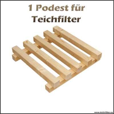 1 Holzpodest für Teichfilter von 5000 bis 15000 Liter
