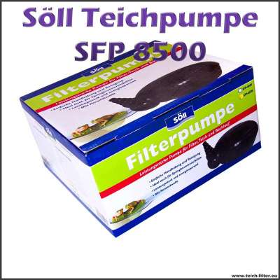 Söll SFP 8500 Teichpumpe für Filter, Wasserfall und Bachlauf