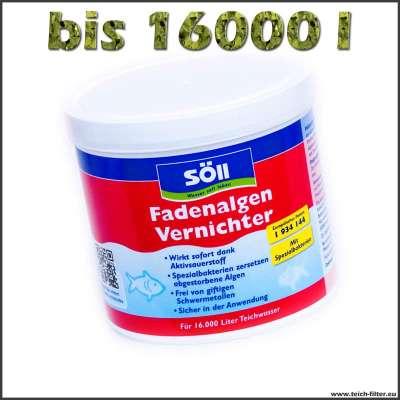 500 g Fadenalgenvernichter von Söll für 16000 l Teichwasser