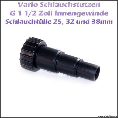 Sera G 1 1/2 Zoll Vario Schlauchstutzen 25x32x38mm für UVC Klärer und Teichpumpen