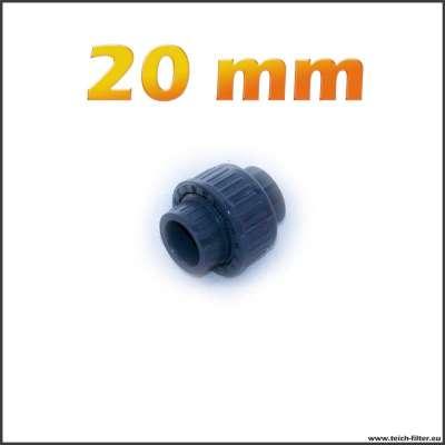 20 mm PVC Verschraubung zum Kleben
