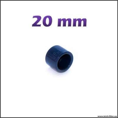 20 mm Endkappe aus PVC Kunststoff