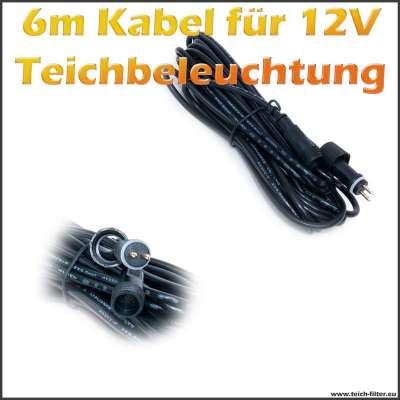 6m Verlängerungskabel für 12V LED Teichbeleuchtung