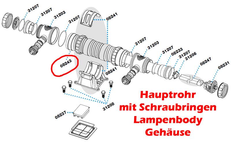 sera-24w-uvc-system-ersatz-hauptrohr-schraubringe-body-gehaeuse-08243