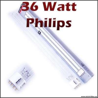 36 Watt UV Lampe Philips für Wasserklärer